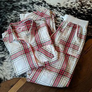 VS Plaid Flannel Pajama Set XS